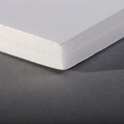 Carton mousse 10mm Blanc