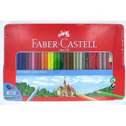 Boîte métal x48 crayons de...